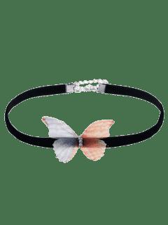 Collar Embellecido Del Ahogador De La Mariposa
