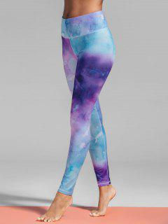 Ombre Tie-Dyed Yoga Leggings - M