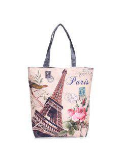 Canvas Painted Shoulder Bag - Palomino