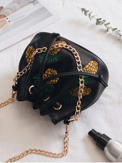 Sac à godet en forme de broche à l'ananas - Noir  Mobile
