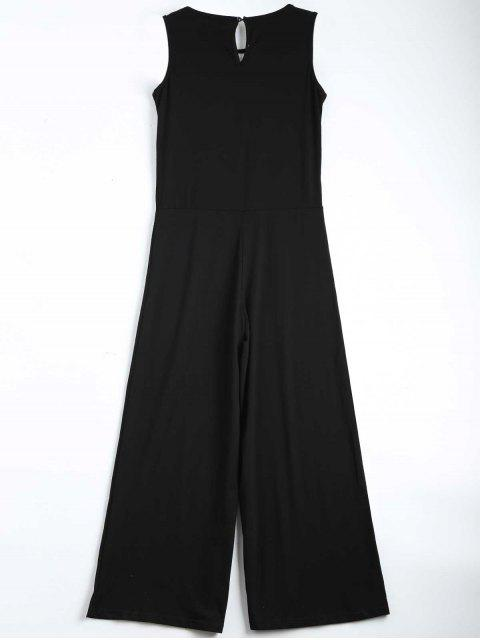 Contraste Ripped Sleeveless Jumpsuit - Noir XL Mobile