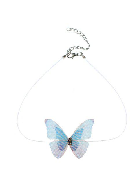 best Rhinestone Mesh Butterfly Choker Necklace - COLORMIX  Mobile
