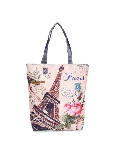 outfits Canvas Painted Shoulder Bag - PALOMINO  Mobile