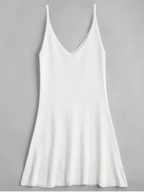 Robe Courte Trapèze à Bretelles - Blanc Taille Unique Mobile