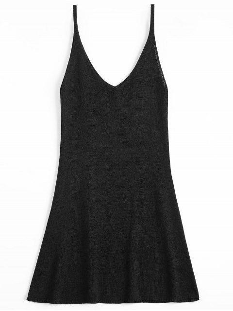 Robe Courte Trapèze à Bretelles - Noir Taille Unique Mobile