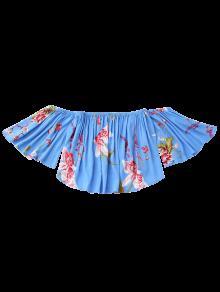 Floral Xl Libres Hombros Azul De qYwgq7C