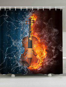 النار المياه غيتار ماء دش الستار - W71 بوصة * L71 بوصة