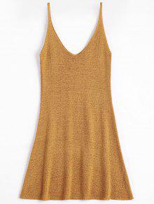 A فستان مصغر كامي بخط  - ترابي