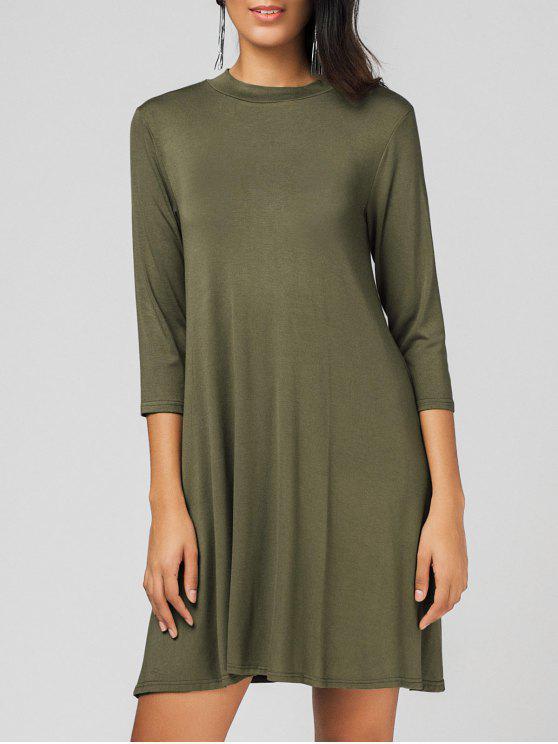 فستان مريح قطع سوينغ - الجيش الأخضر حجم واحد