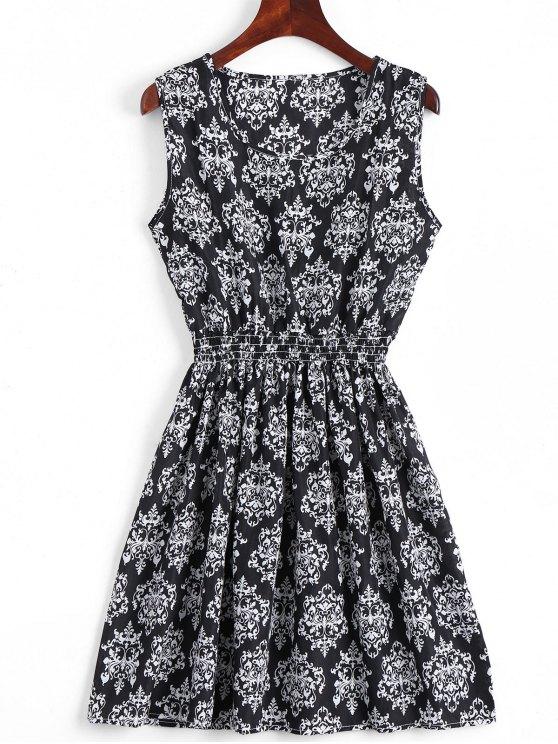 A فستان سموكيد لوحة مصغر بخط - أسود L