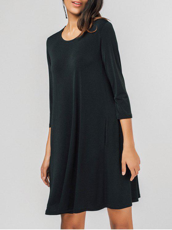 فستان مريح سوينغ مصغر - أسود L