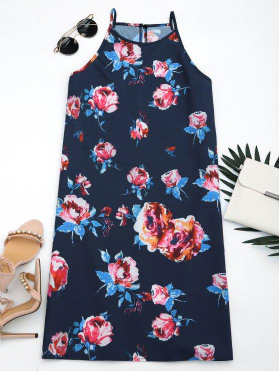 buy Sleeveless Floral Print Cami Dress - FLORAL XL