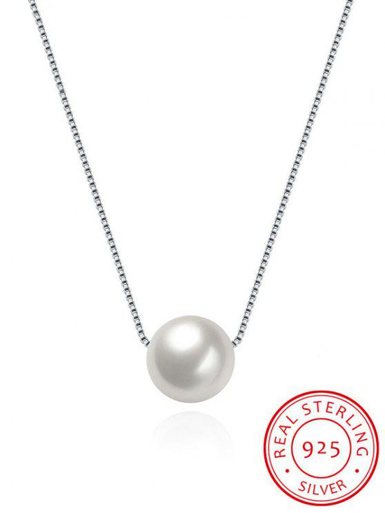 outfits Artificial Pearl Collarbone Silver Necklace - SILVER