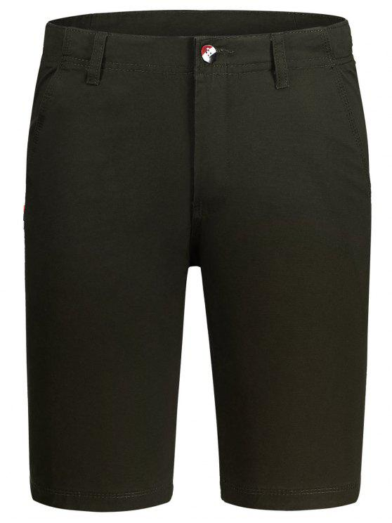outfits Zip Fly Cotton Chino Shorts - DUN 36