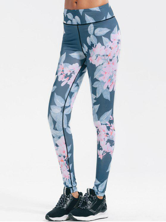 hot Floral Stretchy Yoga Leggings - FLORAL S