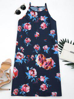 Sleeveless Floral Print Cami Dress - Floral Xl
