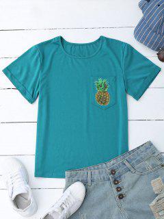 Piña Camiseta De Algodón Con Bolsillo - Lago Azul S
