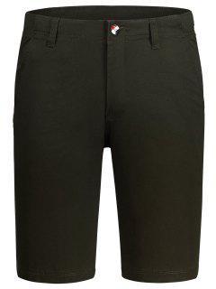 Zip Fly Cotton Chino Shorts - Dun 30
