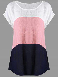 Plus Size Cap Sleeve Crinkle Blouse - 4xl
