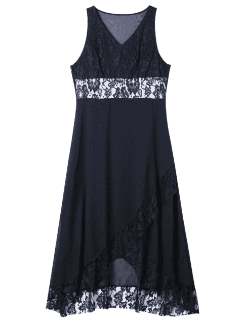 Robe taille tulipe taille tres grande taille - Noir 2XL Mobile