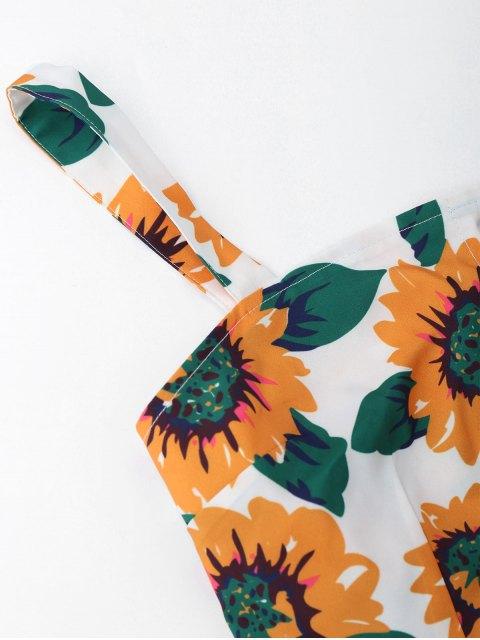Mini Robe Découpé Floral Semi Boutonné - Blanc S Mobile