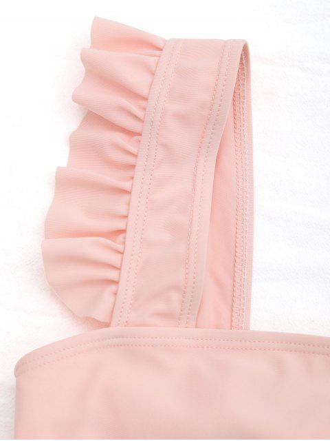 affordable Tie Back Frilled Girls Bikini Set - ORANGEPINK 3T Mobile