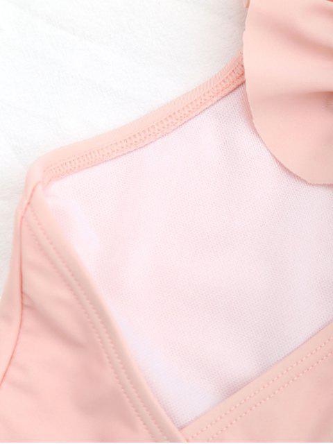 women Square Neck Frilled Girls Swimwear - ORANGEPINK 4T Mobile