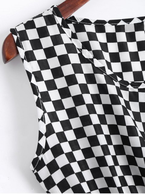 Smokeed Panel Geometric A Line Mini Dress - Blanc S Mobile