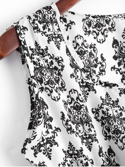 Mini robe A ligne imprimée de flocon de neige avec empiècements brodés - Blanc S Mobile