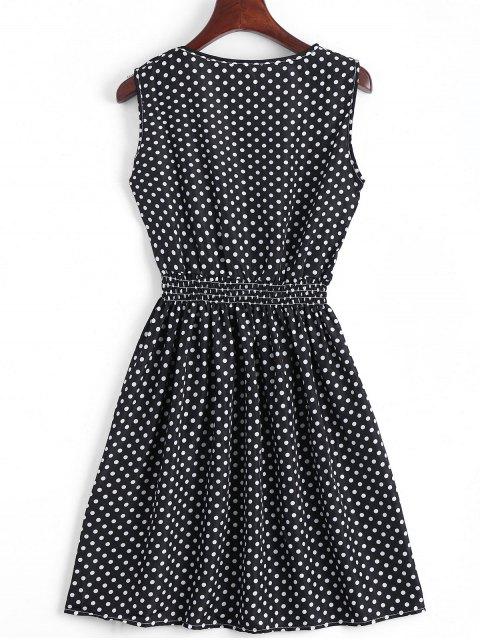 Smokeed Panel Geometric A Line Mini Dress - Noir M Mobile