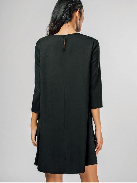shops Casual Keyhole Swing Mini Dress - BLACK XL Mobile