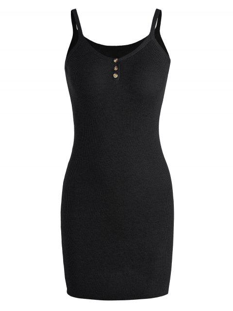 sale Cami Knitted Mini Dress - BLACK ONE SIZE Mobile