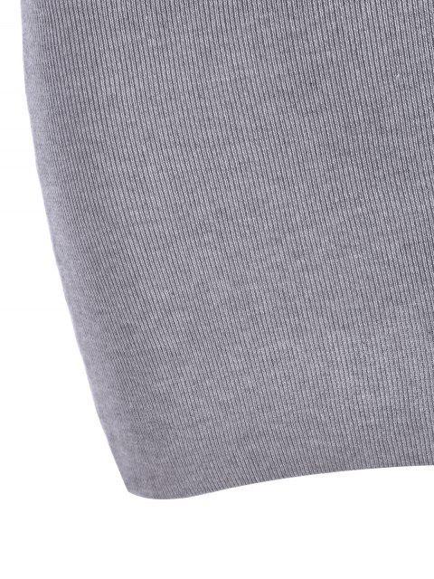 Robe mini à bretelle tricotée - Gris TAILLE MOYENNE Mobile