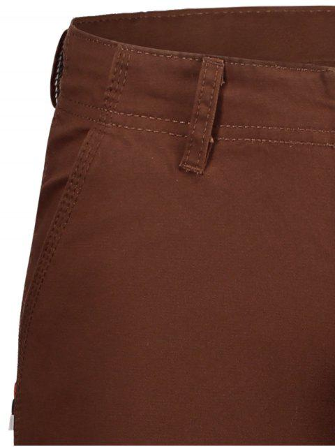 latest Casual Zip Fly Plain Chino Shorts - BRICK-RED 30 Mobile