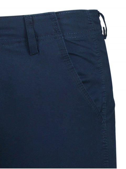 sale Zip Fly Pocket Plain Chino Shorts - CADETBLUE 34 Mobile