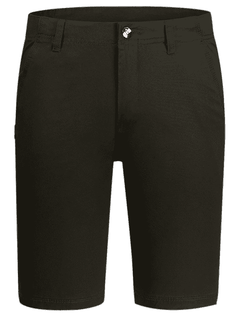 outfit Zip Fly Cotton Chino Shorts - DUN 34 Mobile