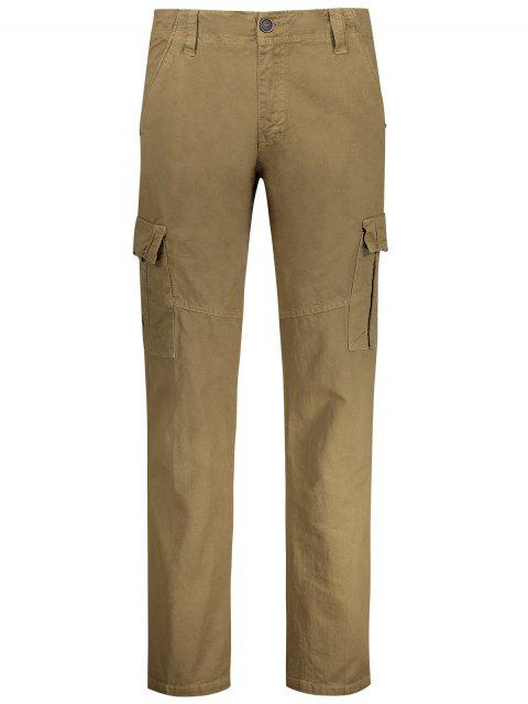 buy Straight Cargo Pants with Multi Pockets - KHAKI 36 Mobile