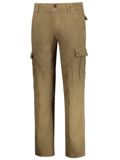 Pantalon de chargement droit avec poches multiples - Kaki 36 Mobile