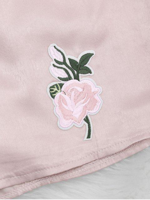 Tank top et shorts floral - Rose Clair XL Mobile