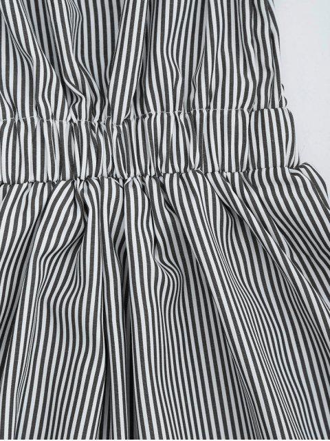 Robe épaules dénudées à rayures dos nu - Noir S Mobile
