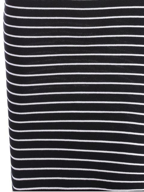 new Side Slit Striped Knitted Cami Dress - STRIPE ONE SIZE Mobile