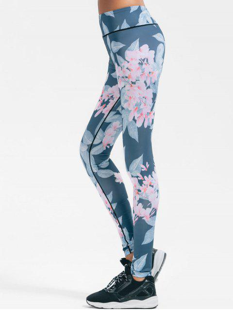 online Floral Stretchy Yoga Leggings - FLORAL L Mobile