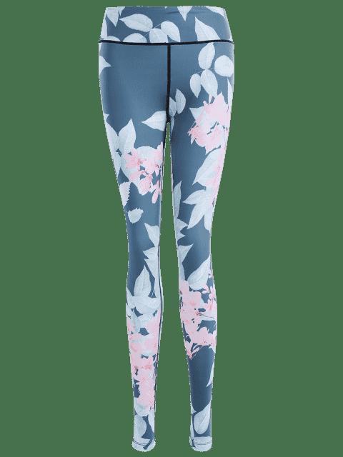 new Floral Stretchy Yoga Leggings - FLORAL M Mobile