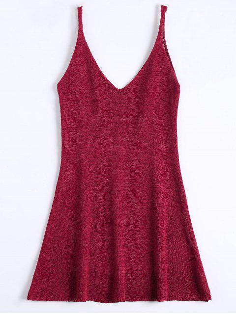 Robe Courte Trapèze à Bretelles - Rouge Foncé Taille Unique Mobile