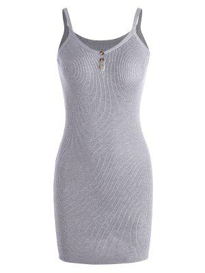 Cami Knitted Mini Dress - Gray