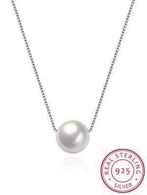 Collier En Argent à Col En Perles Artificielles - Argent