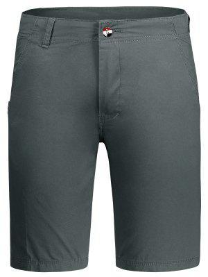 Zip Fly Plain Chino Shorts