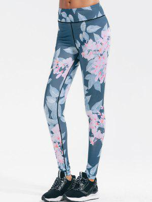 Floral Stretchy Yoga Leggings - Floral L