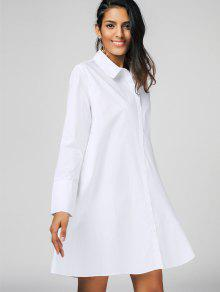 Casual Long Sleeve Shirt Dress