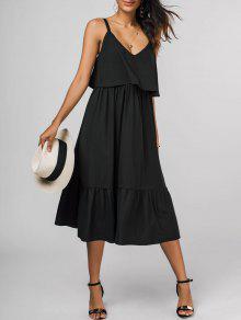فستان بوبوفر ميدي - أسود L